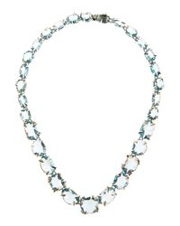 Alexis Bittar Fine - White Midnight Marquise Multi-Stone Necklace - Lyst