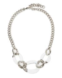 Alexis Bittar - Metallic Largelink Crystal Lucite Necklace Clear - Lyst