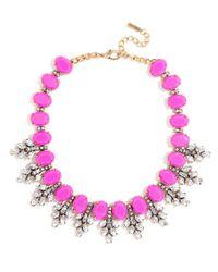 BaubleBar - Pink Crystal Conifer Collar - Lyst