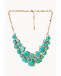 Forever 21 | Green Sweet Side Bib Necklace | Lyst