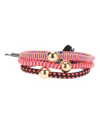 Marc By Marc Jacobs Pink Mixed Striped Pony Bands Set