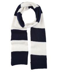 Splendid Blue Rugby Stripe Scarf