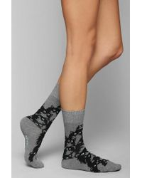 Urban Outfitters | Gray Pretty Snake Crazy Kitty Crew Sock | Lyst