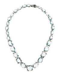 Alexis Bittar Fine | White Midnight Marquise Multi-Stone Necklace | Lyst