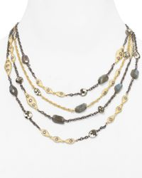 Alexis Bittar | Metallic Multi Strand Faceted Pyrite and Labradorite Necklace 16 | Lyst