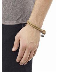 Bottega Veneta - Brown Double Woven Leather Bracelet - Lyst