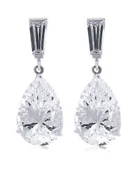 Carat* Metallic 2ct Pear Drop Earrings