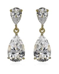 Carat* | Metallic Classy Pear Drop Earrings | Lyst