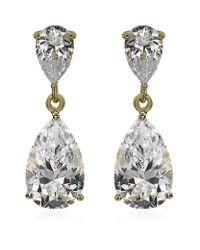 Carat* - Metallic Classy Pear Drop Earrings - Lyst