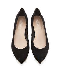 Carvela Kurt Geiger Black Amber Low Wedge Court Shoes