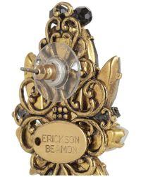 Erickson Beamon Metallic Girls On Film Goldplated Swarovski Crystal Earrings