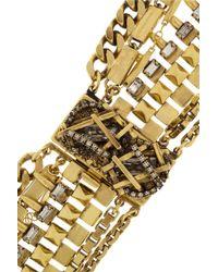 Erickson Beamon Metallic Velocity Goldplated Swarovski Crystal Necklace