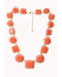 Forever 21 - Orange Luxe Faux Stone Necklace - Lyst
