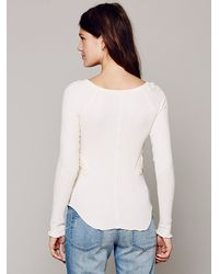Free People White Fp X Soutache Waffle Scoop Thermal