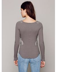 Free People Gray Fp X Soutache Waffle Scoop Thermal