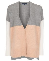 French Connection Gray Vhari Colour Block Cardigan