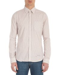 Gant Rugger White The Hugger Check Shirt for men