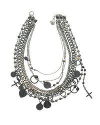 Jean Paul Gaultier - Black Madonna Multi Strand Charm Necklace - Lyst