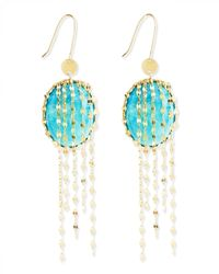 Lana Jewelry | Green Turquoise Chain-Cascade Earrings | Lyst