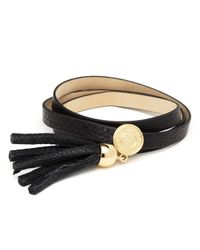 Marc By Marc Jacobs | Black Triple Wrap Leather Bracelet | Lyst