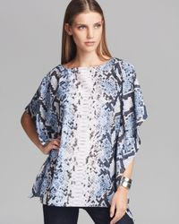 MICHAEL Michael Kors | Blue Short-sleeve Printed Layered Top | Lyst