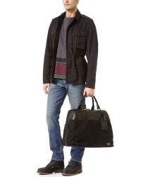 Rag & Bone Black Rugged Cotton Duffel Bag for men