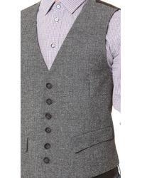 Rag & Bone Gray Grosvenor Melange Waistcoat for men