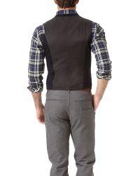 Rag & Bone Blue Knit Grosvenor Waistcoat for men