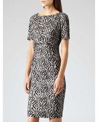Reiss Gray Janella Lace Dress