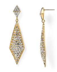 R.j. Graziano | Metallic Holiday Pointed Drop Earrings | Lyst