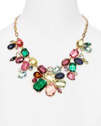 R.j. Graziano Multicolor Color Luxe Cluster Statement Necklace 16