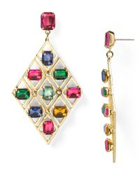 R.j. Graziano Multicolor Color Luxe Statement Earrings