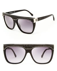 Roberto Cavalli Black Albireo Shield Sunglasses