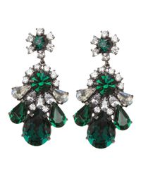 Shourouk | Green Crystal Earring | Lyst