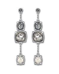 Swarovski | Metallic Rosette Pierced Earrings | Lyst