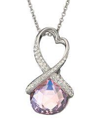 Swarovski - Purple Heart Twist Pendant Necklace - Lyst