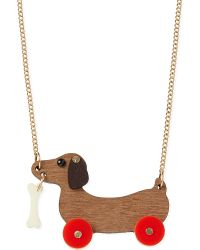 Tatty Devine - Multicolor Dog On Wheels Necklace - Lyst