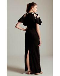 Temperley London Black Long Poppy Dress