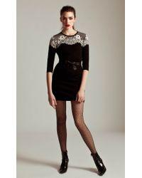 Temperley London Black Fitted Wisp Dress