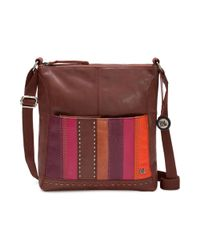 The Sak   Purple Iris Leather Crossbody Bag   Lyst
