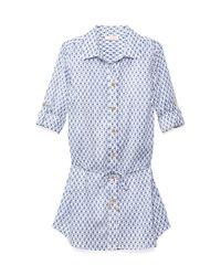 Tory Burch White Boria Belted Tunic Dress