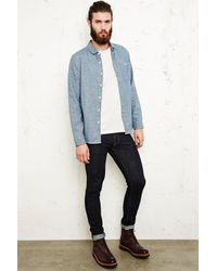Urban Outfitters Common People Bromine Flannel Shirt in Blue for men