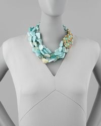 Alexis Bittar Blue Kiwi Cluster Multistrand Necklace