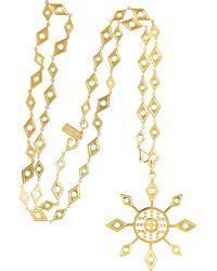 Arme De L'Amour - Metallic Goldplated Star Necklace - Lyst