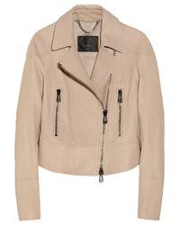 Belstaff   Natural Ambleside Texturedleather Biker Jacket   Lyst