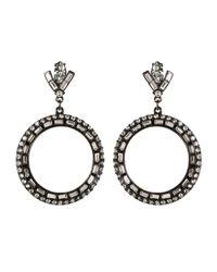 Ben-Amun | Black Gunmetal Circle Earrings | Lyst