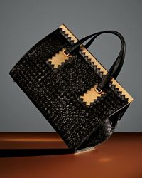 Bottega Veneta Brown Intrecciato Leather Woven Yarn Tote Bag