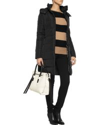 Calvin Klein Black Sade Quilted Shell Coat