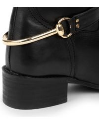 Carvela Kurt Geiger Black Water Leather Riding Boots