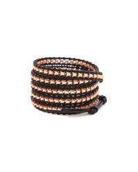 Chan Luu Black Beaded Wrap Bracelet